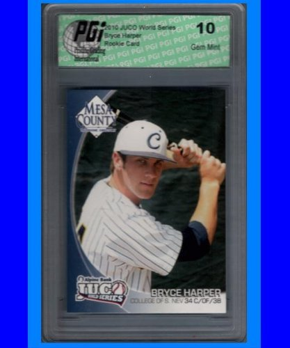 World Series College 2008 - Bryce Harper 2010 JUCO World Series Rookie Card PGI 10 -Only 2500 Made!