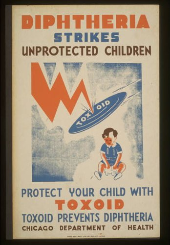 Photo Diphtheria strikes unprotected children Protect your child with toxoid--Toxoid prevents diptheria :
