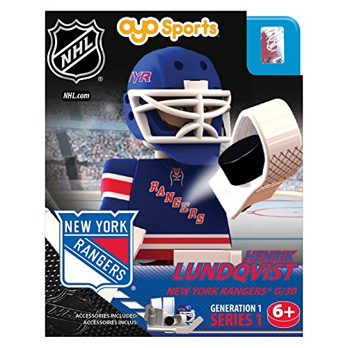 Amazon.com : NHL New York Rangers Henrik Lundqvist Generation 1 ...