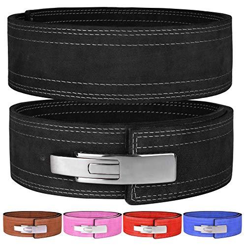 Hawk Sports Lever Belt 10mm Powerlifting Belt for Men & Women Buckle Strongman Power Weight Lifting Weightlifting Belts (Black, M (32''-38''))