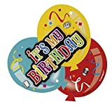 Deluxe Balloon It's My Birthday Badge by Unique Party