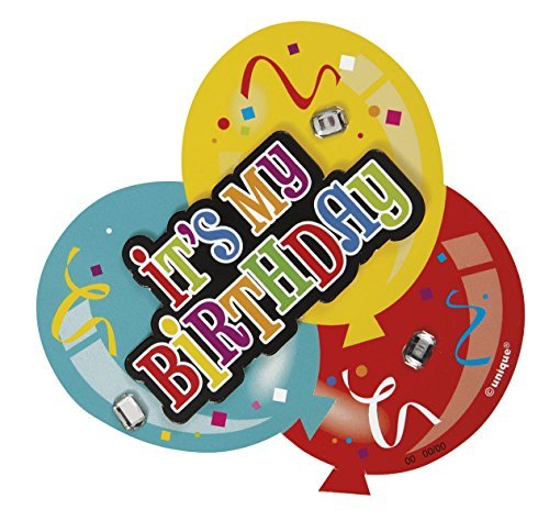 Deluxe Balloon It's My Birthday Badge by Unique Party by UNIQUE PARTY