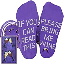 Saucey Socks - Bring Me Wine Beer Coffee Socks for Men and Women, Luxury Cotton with Cool Designs! Give the perfect gift!
