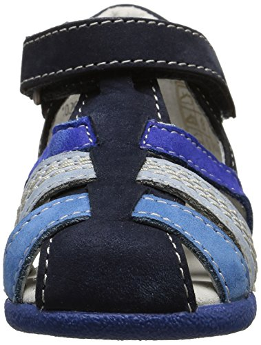 Kickers Babysun - Zapatos de primeros pasos Bebé-Niños Azul - Bleu (Marine/Bleu)