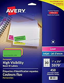 avery removable id labels for laser and inkjet printers 1 x 2 5 8