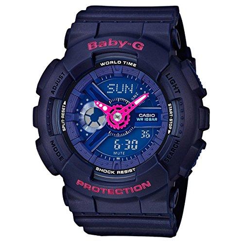 Casio Baby-G BA110PP-2A Punching Pattern Series Analog Digital Blue Watch