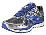 Brooks Men's Adrenaline GTS 17 Wide Anthracite/Electric Brooks Blue/Silver Running Shoe 12 2E Men US