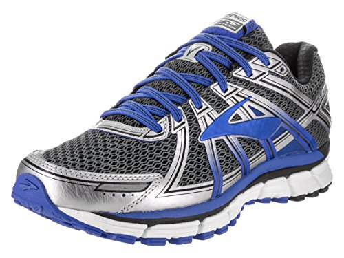 Brooks Men's Adrenaline GTS 17 Wide Anthracite/Electric Brooks Blue/Silver Running Shoe 12...