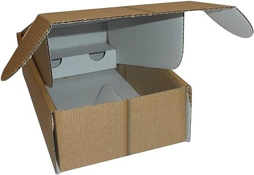 Unidades 10 caja porta botella stesa (2 botellas) estuche de cartón ondulado Box for Bottles de papel: Amazon.es: Hogar