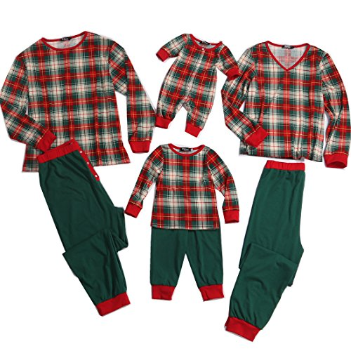 PopReal Women Plaid Family Matching Clothes Long Sleeve and Pants Christmas Pajamas Set for $<!--$27.99-->