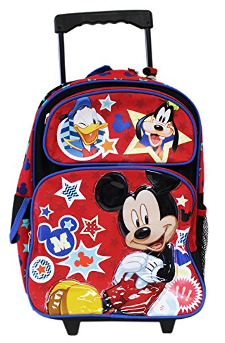 Backpack Friends Rolling (Full Size Disney Mickey Mouse and Friends Kids Rolling Backpack)