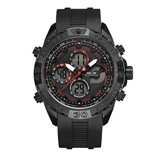 48mm Date Chronograph - Men Fashion Brand Chronograph Digital Auto Date Military Army Calendar Wrist Watch Reloj Hombre Relogios Masculinos,Red