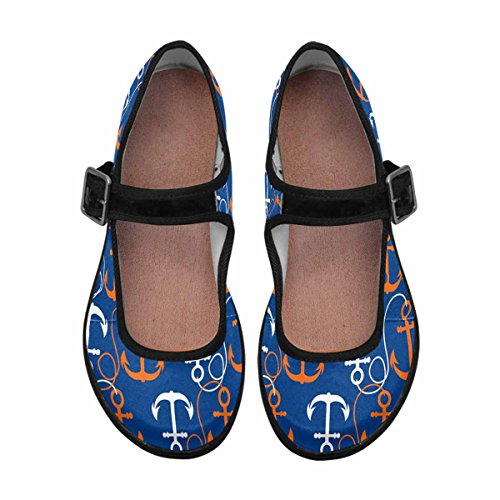 Interestprint Womens Comfort Mary Jane Flats Casual Walking Shoes Multi 5