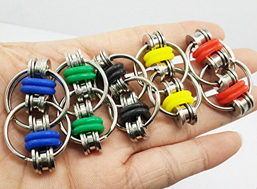 XHBoutique Flippy Chain Fidget Toy Stress Reducer Toys For ADD, ADHD, Anxiety, and Autism (5 Pack) -