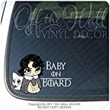 """Game of Thrones Inspired Baby Jon Snow""""BABY ON BOARD"""" Sign Vinyl Decal Sticker for Cars/Trucks"""