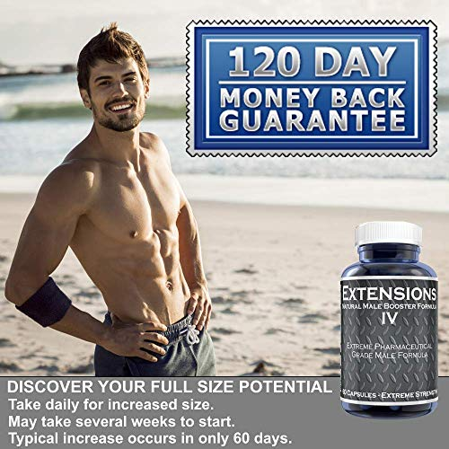 Extensions IV™ Testosterone Enlargement Booster Increases Energy, Mood & Endurance - All Natural Performance Supplement for Men by PherLuv LLC (Image #1)
