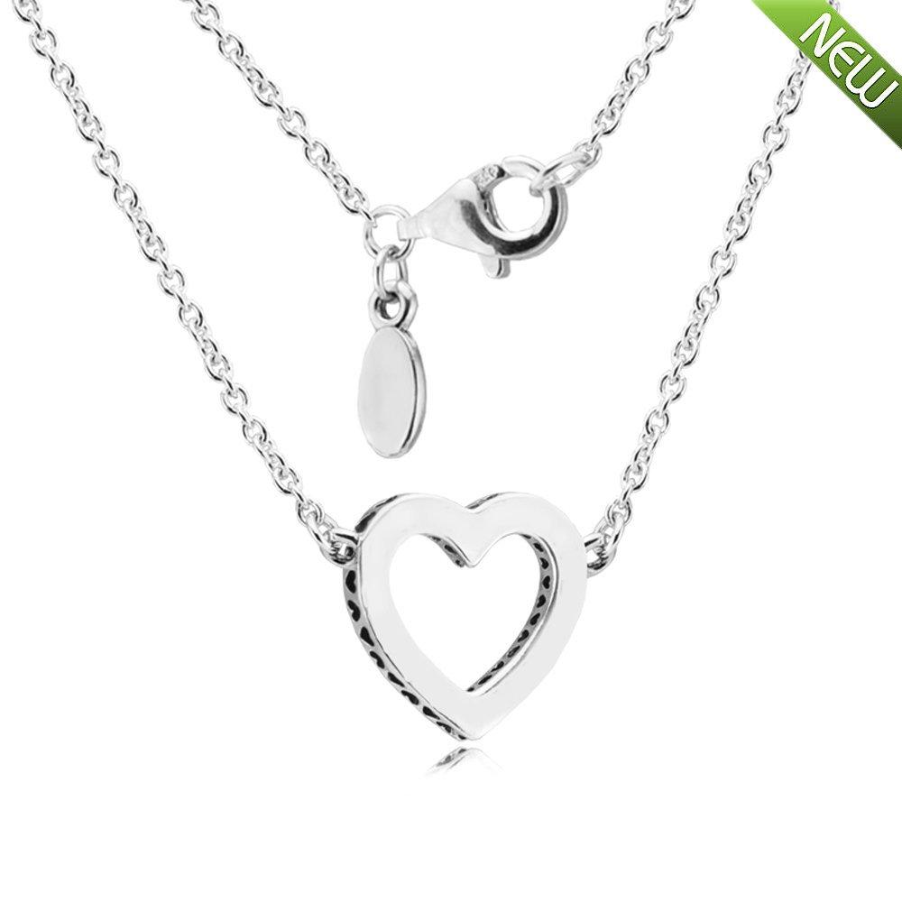 PANDOCCI 2017 Collezione Giorno Moda di San Valentino autentico Argento 925 Loving Hearts Of Set collana regalo Logo gioielli per le donne