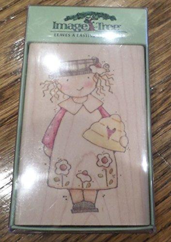 Image Tree Honey Girl In School Dress Ek Success Wooden Rubber Stamp - Ek Image Tree Rubber Stamp