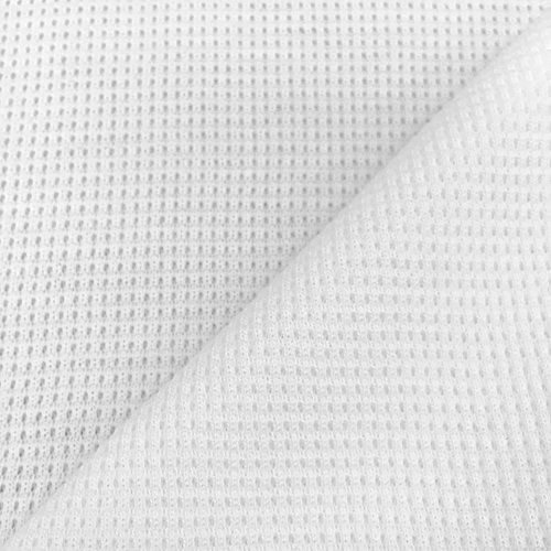 (USA Made Premium Quality 100% Supima Cotton Thermal Knit Fabric (Wholesale Price by the bolt) - White - 1 Yard)