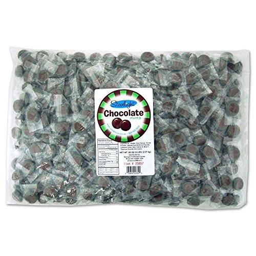 Starlight Chocolate Flavor Mints 5 lb bag ()