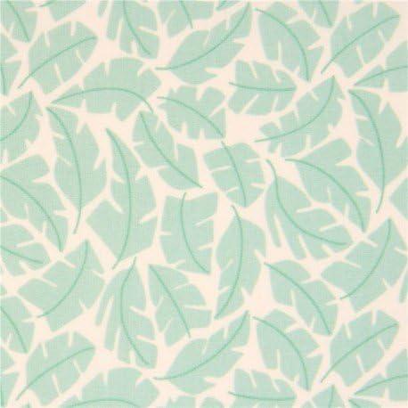 Tela algodón orgánico crema Park life hoja verde de Cloud 9: Amazon.es: Hogar