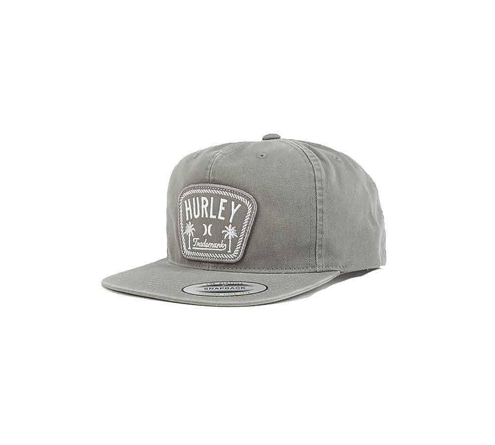 ccc083093cdff Amazon.com  Hurley Flat Bill Six Panel Classic Adjustable Snapback Hat -  Grey  Clothing
