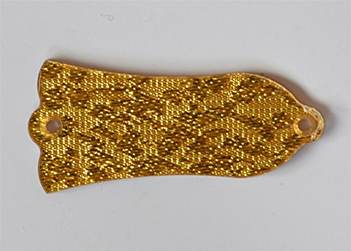 (KAISH Gold Sparkle Plastic 1 Ply Blank Guitar Truss Rod Cover 2 Hole Fits Gibson Style Les Paul LP)