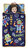 nap mat robot - Baby Boom Robot Nap Mat Set – Includes Pillow and Fleece Blanket – Great for Boys Sleep during Daycare, Preschool, or Kindergarten - Fits Napping Toddlers and Young Children - Kid Friendly Design