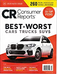 10 Top Picks of 2019: Best Cars of the Year The best cars based on CR's track tests, safety evaluations, and survey data on reliability and owner satisfaction. Each year CR experts test nearly 50 new cars and analyze data from our exclusive A...
