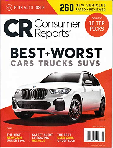 Consumer Reports 10 Top Picks of 2019:
