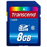 Transcend 8 GB Class 6 SDHC Flash Memory Card TS8GSDHC6