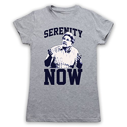 Seinfeld Frank Costanza Serenity Now Camiseta para Mujer Gris Claro