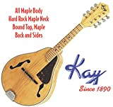 Kay Mandolin MAND10 Deep Arch Top Body Teardrop Shaped A-Style All Maple