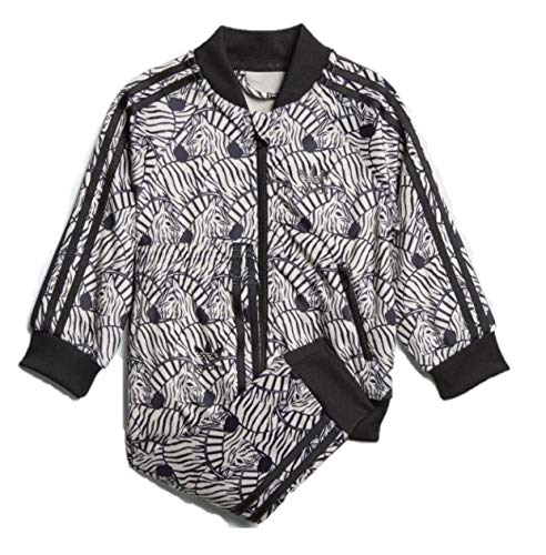adidas Originals Toddler Girls' Zebra Superstar SST Track Suit(Clear Brown/Black, 2T)