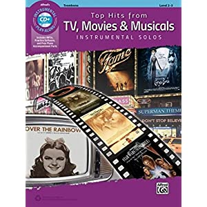 Top Hits from TV, Movies & Musicals Instrumental Solos: Trombone, Book & CD (Top Hits Instrumental Solos)