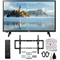 LG 28LJ430B-PU 28 Class HD 720p LED TV (2017 Model) with Slim Flat Wall Mount Kit and 750 Joule 6-Outlet Surge Adapter Ultimate Bundle