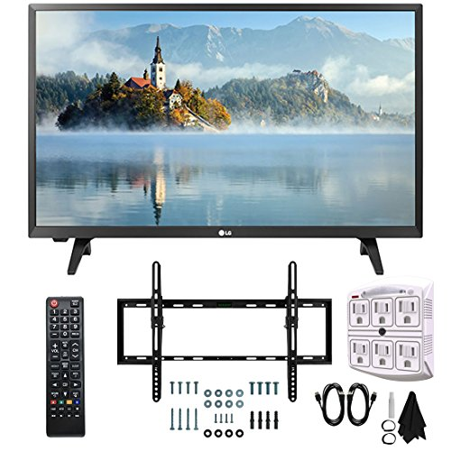 LG 28LJ430B-PU 28″ Class HD 720p LED TV (2017 Model) with Slim Flat Wall Mount Kit and 750 Joule 6-Outlet Surge Adapter Ultimate Bundle