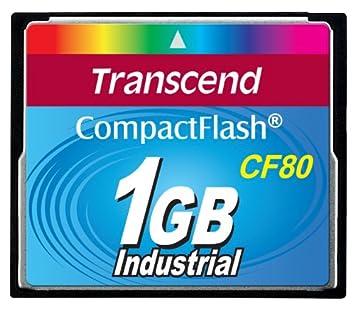 Transcend TS1GCF80 - Tarjeta de memoria CF (1 GB, 12 MBit/s, 80x)