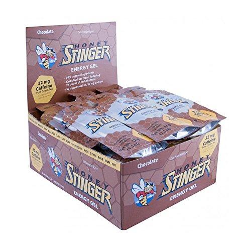 Stinger Lo Chocolate - Honey Stinger Organic Gel Chocolate 24 1.3oz Packets w/Caffeine