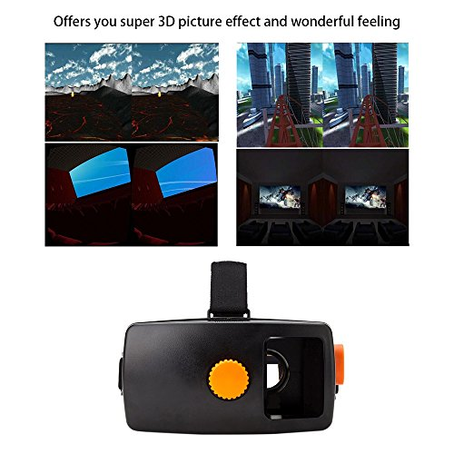 "3D Video Movie Game Glasses Google Cardboard Version 3D VR Glasses Virtual Reality Head-Mounted for 4.5 - 5.7"" Smart Phones"