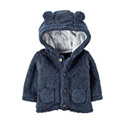 Carter's Baby Boys' 3M-24M Hooded Sherpa Jacket 3 Months