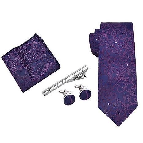 Kapmore Herren Krawatten set, Business Krawatte mit ManschettenKnö pfe, Einstecktuch und Krawatte Bar Geschenk Set Paisley Kapmore Business Krawatte mit ManschettenKnö pfe 2221