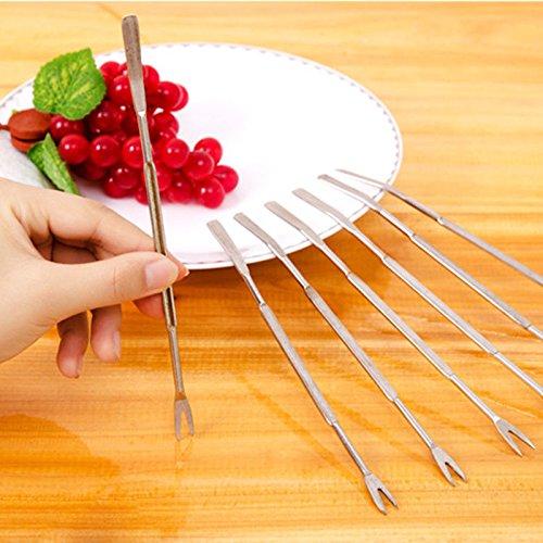 STORE-HOMER - 1X Stainless Steel Olive Crab Lobster Fork Picks Handy Helper Nutcracker Kitchen
