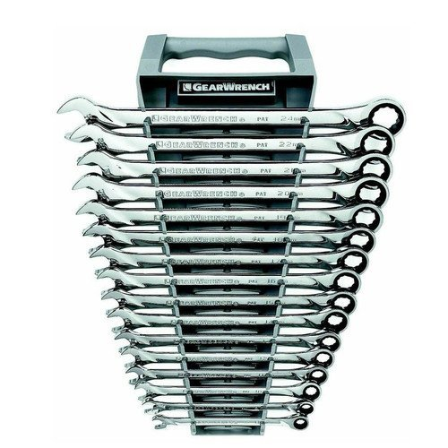 082171850998 - GearWrench 85099 16 Piece Metric XL Ratcheting Combination Wrench Set carousel main 0