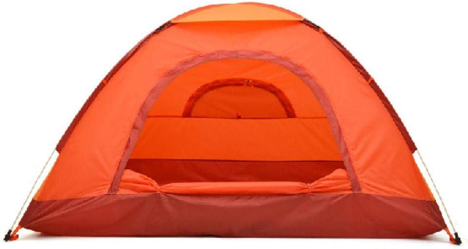 IFMASNN Tienda Ligera, 1-2 Personas, para Trekking, Camping, al Aire Libre, Festival con Paquete pequeño, construcción Simple, Impermeable Naranja