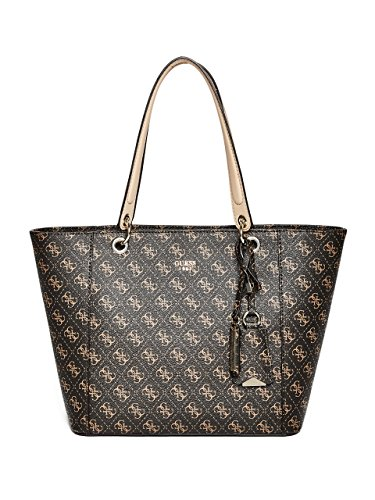 GUESS Kamryn Q Logo Tote, Brown,One size ()