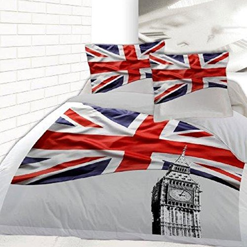 Housse de couette 200 x 200 +2 Taies BRITISH FLAG