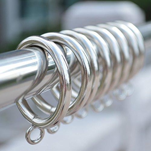 WP-TT 45mm Inner Diameter Metal Curtain Drapery Eyelet Rings ,Pack of 30 (Silver)