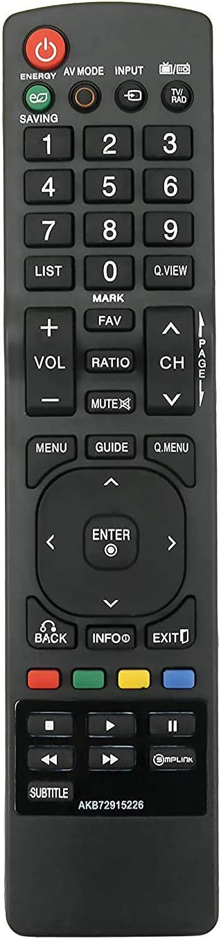 ALLIMITY AKB72915226 Remote Control Replacement for LG TV 26LD350 32LD320 32LD350 32LD450 37LD450 42LD420 42LD450 42LD520 47LD420 47LD450 47LD520 50PJ350 55LD520 LM6210 LM6450 LM6700 LM7600