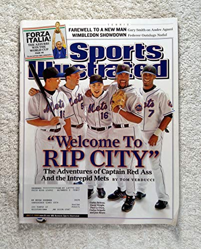 Carlos Beltran, David Wright, Paul Lo Duca, Carlos Delgado & Jose Reyes - New York Mets - Welcome to RIP CITY - Sports Illustrated - July 17, 2006 - Italy Wins the 2006 World Cup - SI 2006 Italy World Cup